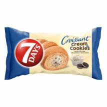 7DAYS Cream & Cookies vanília ízű tejes krémmel töltött croissant kakaós keksz darabokkal 60 g
