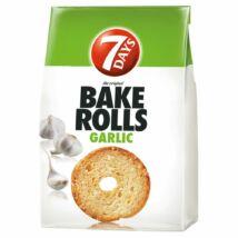 7DAYS Bake Rolls fokhagymás kétszersült 80 g