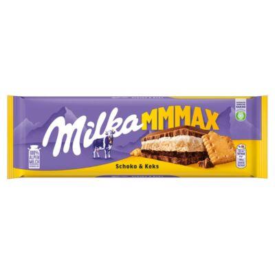 Milka Mmmax Schoko & Biscuit tejcsokoládé 300 g