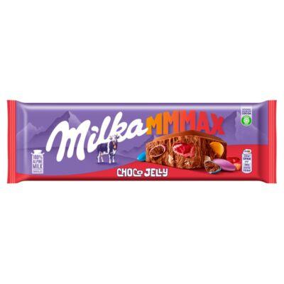 Milka Choco Jelly tejcsokoládé meggyízű zselédarabkákkal, cukordrazséval és robbanóscukorkával  250 g