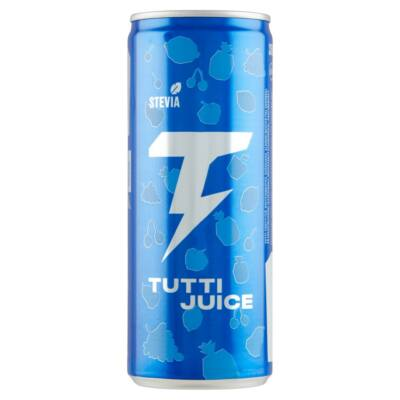 Tutti Juice koffeinmentes szénsavas üdítőital 250 ml vitaminokkal