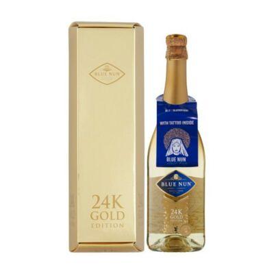 Blue Nun Gold pezsgő 24 karátos arannyal édes 11% 0,75 l díszdobozban